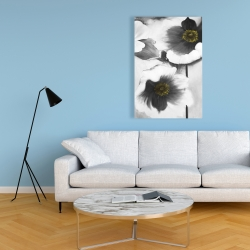 Canvas 24 x 36 - Black and white flowers