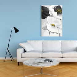 Canvas 24 x 36 - Assorted white flowers