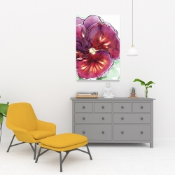 Canvas 24 x 36 - Blossoming orchid with wavy petals
