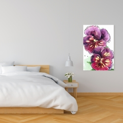 Canvas 24 x 36 - Two blossoming orchid with wavy petals