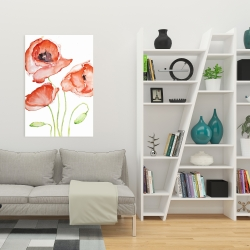 Canvas 24 x 36 - Watercolor poppies