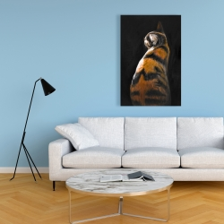 Canvas 24 x 36 - Spotted cat