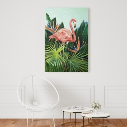 Canvas 24 x 36 - Tropical flamingo