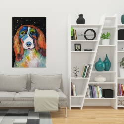 Canvas 24 x 36 - Colorful dog