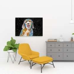 Canvas 24 x 36 - Abstract labradoodle