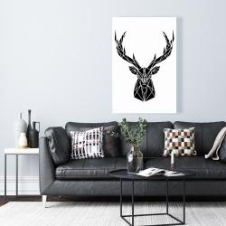 Canvas 24 x 36 - Geometric deer head