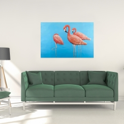 Canvas 24 x 36 - Group of flamingos