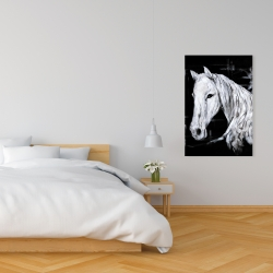 Canvas 24 x 36 - Abstract horse profile view