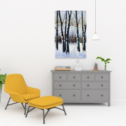 Canvas 24 x 36 - Frosted trees
