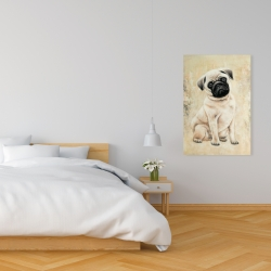 Canvas 24 x 36 - Small pug