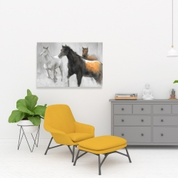 Canvas 24 x 36 - Abstract herd of horses