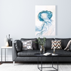 Canvas 24 x 36 - Jellyfish moving