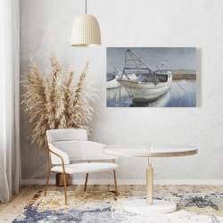 Canvas 24 x 36 - Blue fishing boat