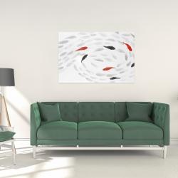 Canvas 24 x 36 - Swimming fish swirl