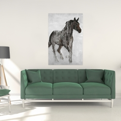 Canvas 24 x 36 - Abstract brown horse