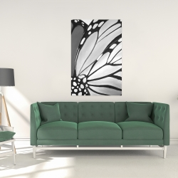 Canvas 24 x 36 - Monarch wings closeup