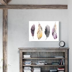 Canvas 24 x 36 - Bohemian feather set
