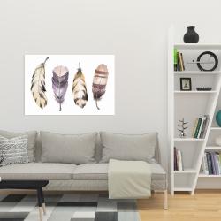 Canvas 24 x 36 - Purple feather set