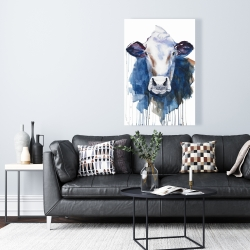 Canvas 24 x 36 - Watercolor cow