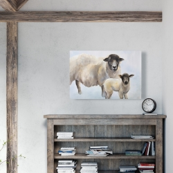 Canvas 24 x 36 - Sheep and its baby