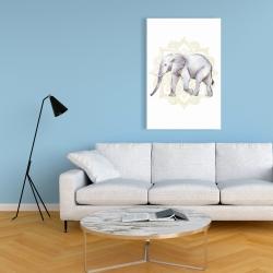 Canvas 24 x 36 - Elephant on mandalas