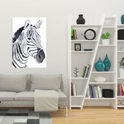 Canvas 24 x 36 - Watercolor zebra
