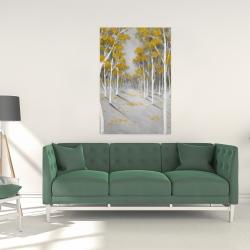 Canvas 24 x 36 - Yellow birch forest