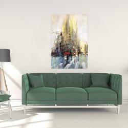 Canvas 24 x 36 - Abstract rainy street