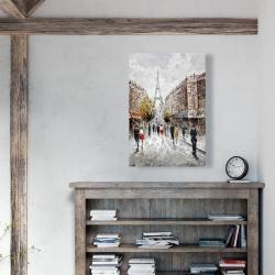 Canvas 24 x 36 - Paris busy street