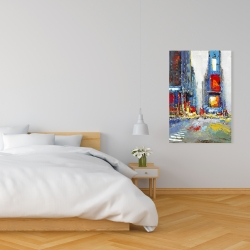 Canvas 24 x 36 - Abstract and colorful buildings