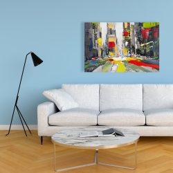 Canvas 24 x 36 - Abstract texturized cityscape