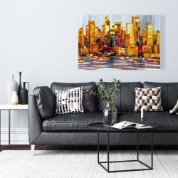 Canvas 24 x 36 - Orange buildings
