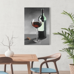 Canvas 24 x 36 - Bottle of burgundy
