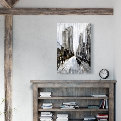 Canvas 24 x 36 - Gray gloomy street
