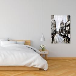 Canvas 24 x 36 - Busy gray street
