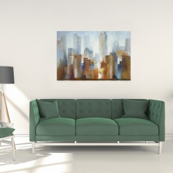 Canvas 24 x 36 - Cityscape in the fog