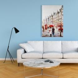 Canvas 24 x 36 - European street by a rainy day