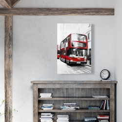 Canvas 24 x 36 - Red bus londoner