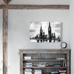 Canvas 24 x 36 - Mono urban cityscape