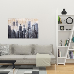 Canvas 24 x 36 - Buildings through the clouds