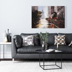 Canvas 24 x 36 - Morning street scene
