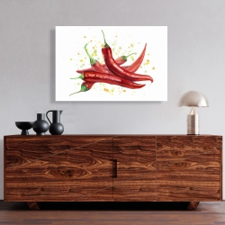 Canvas 24 x 36 - Red hot peppers