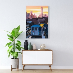 Canvas 24 x 36 - Sunset over the subway in new-york