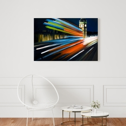 Canvas 24 x 36 - London bus with long exposure