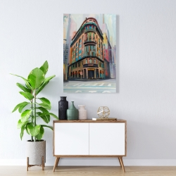 Canvas 24 x 36 - Building architecture in new-york
