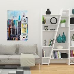 Canvas 24 x 36 - Colorful cityscape of manhattan