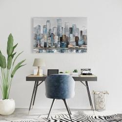 Canvas 24 x 36 - Abstract urban skyline