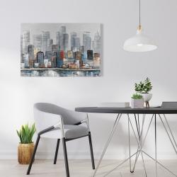 Canvas 24 x 36 - Abstract city skyline