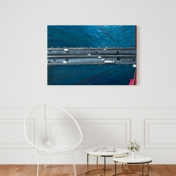 Canvas 24 x 36 - Overhead view of traffic on the golden gate