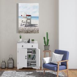 Canvas 24 x 36 - White beach chair